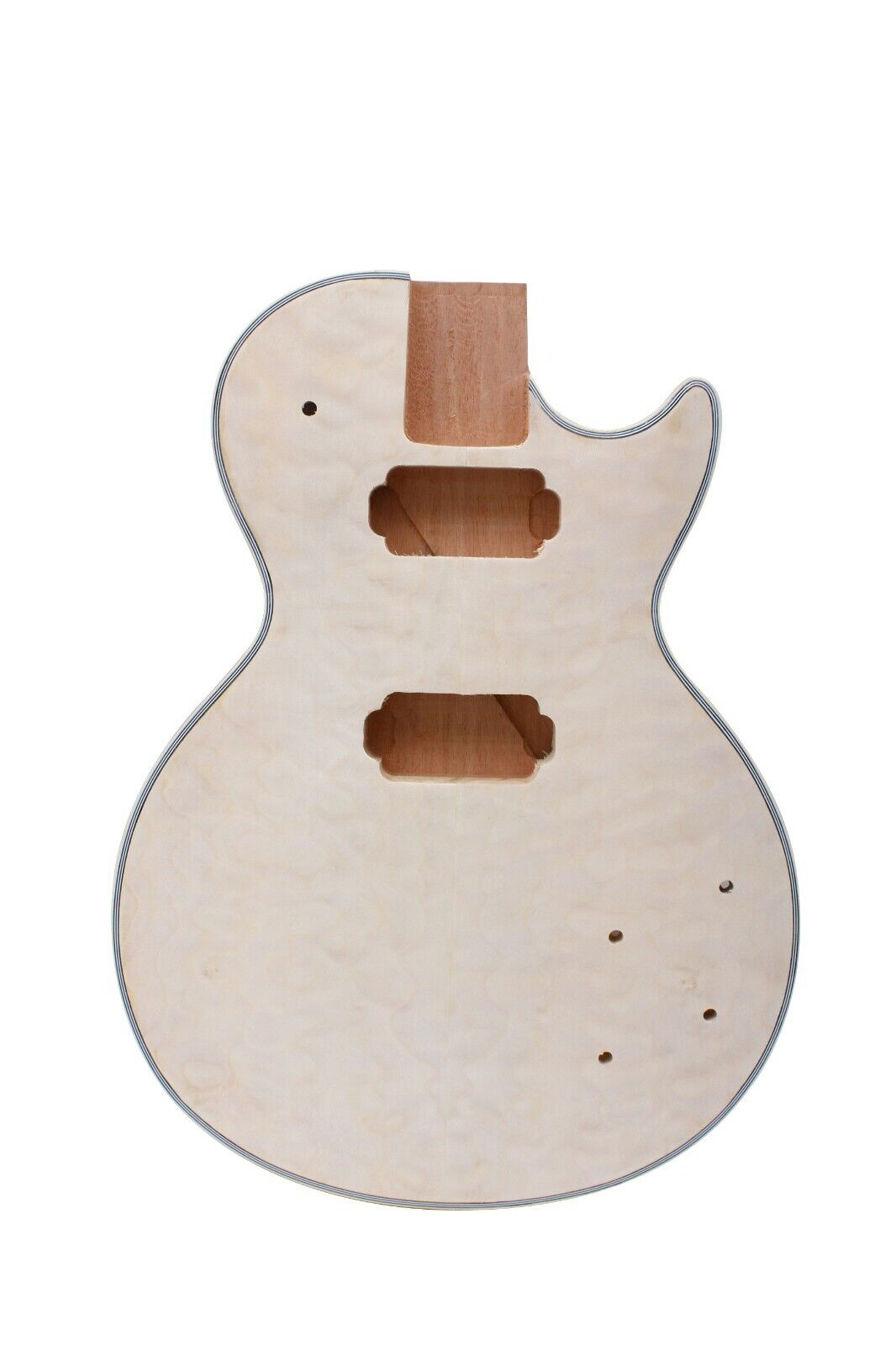 Diy Electric Guitar Body Mahogany Quilt Maple Veneer Unfinished LP