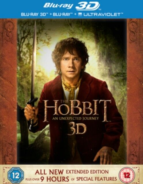 The Hobbit - An Unexpected Journey - Extended Edition Blu Ray NEW (10004