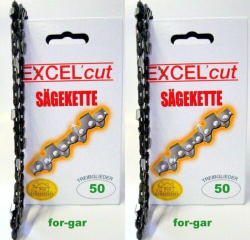 2 Sägeketten passend für Stihl Kettensäge 35 cm 3//8 1,1 mm 50 TG 017 170 171