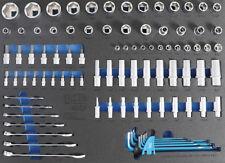 Module de servante d'atelier - douilles, clés mixtes en pouces US/GB 90 pièces