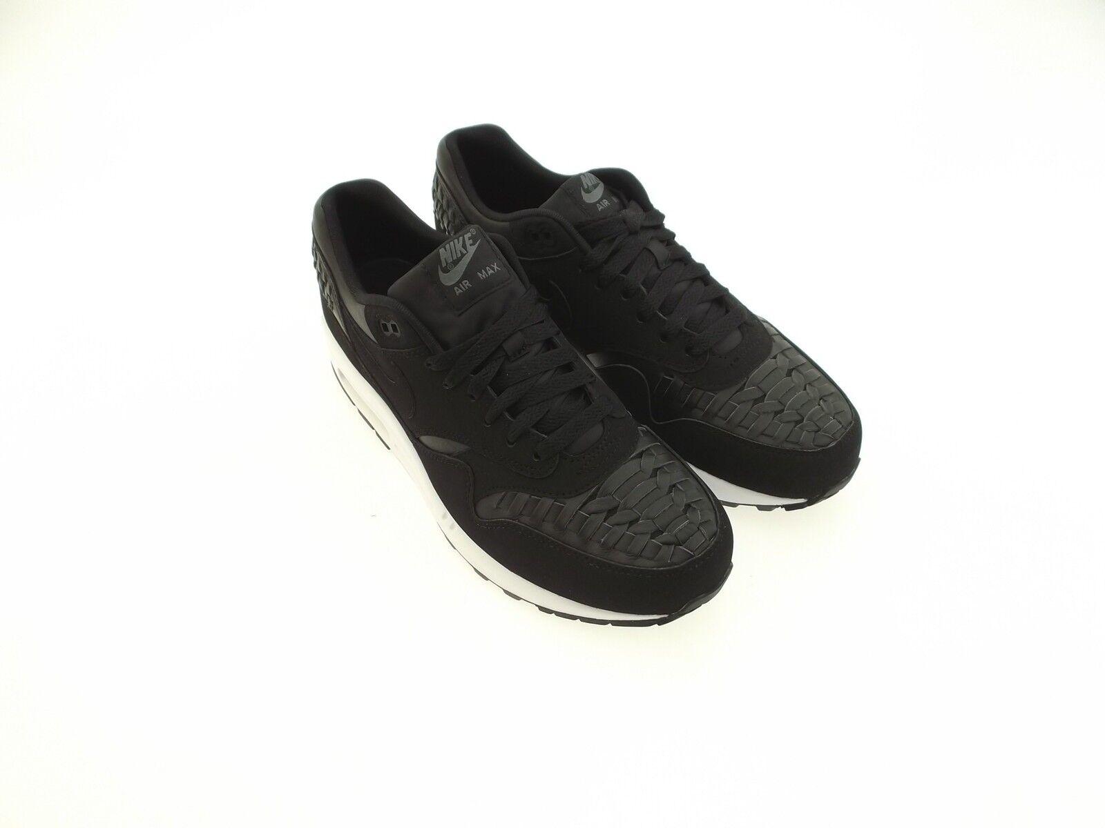 Nike Hombres Blanca Max 1 Tejida Negra Blanca Hombres Air 22690a