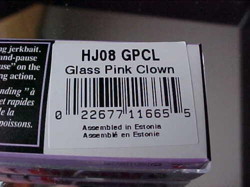 Rapala Suspend Glass Husky Jerk HJ08 GPCL in Glass Pink Clown for Bass//Walleye