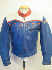"""Giacca IN PELLE DAINESE VINTAGE CAFE RACER MOTO GIACCA BIKER L 42"""" EURO 52"""
