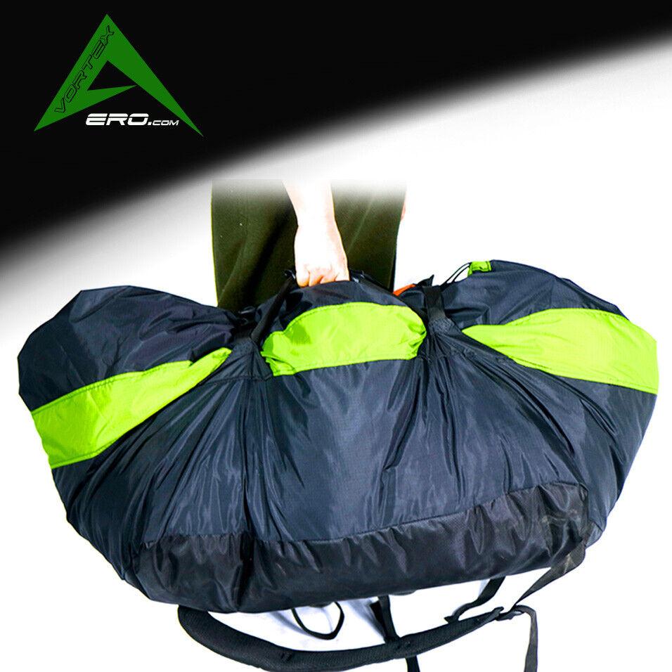Wing borsa, Stuff Sack, Quick borsa,  Paramotor, energiaosso Paragliding verde