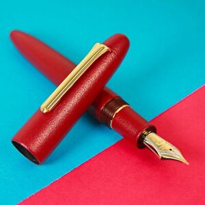 Sailor-KOP-King-Of-Pen-Ebonite-Urushi-Iro-Miyabi-SUO-21K-Gold-Nib-Fountain-Pen
