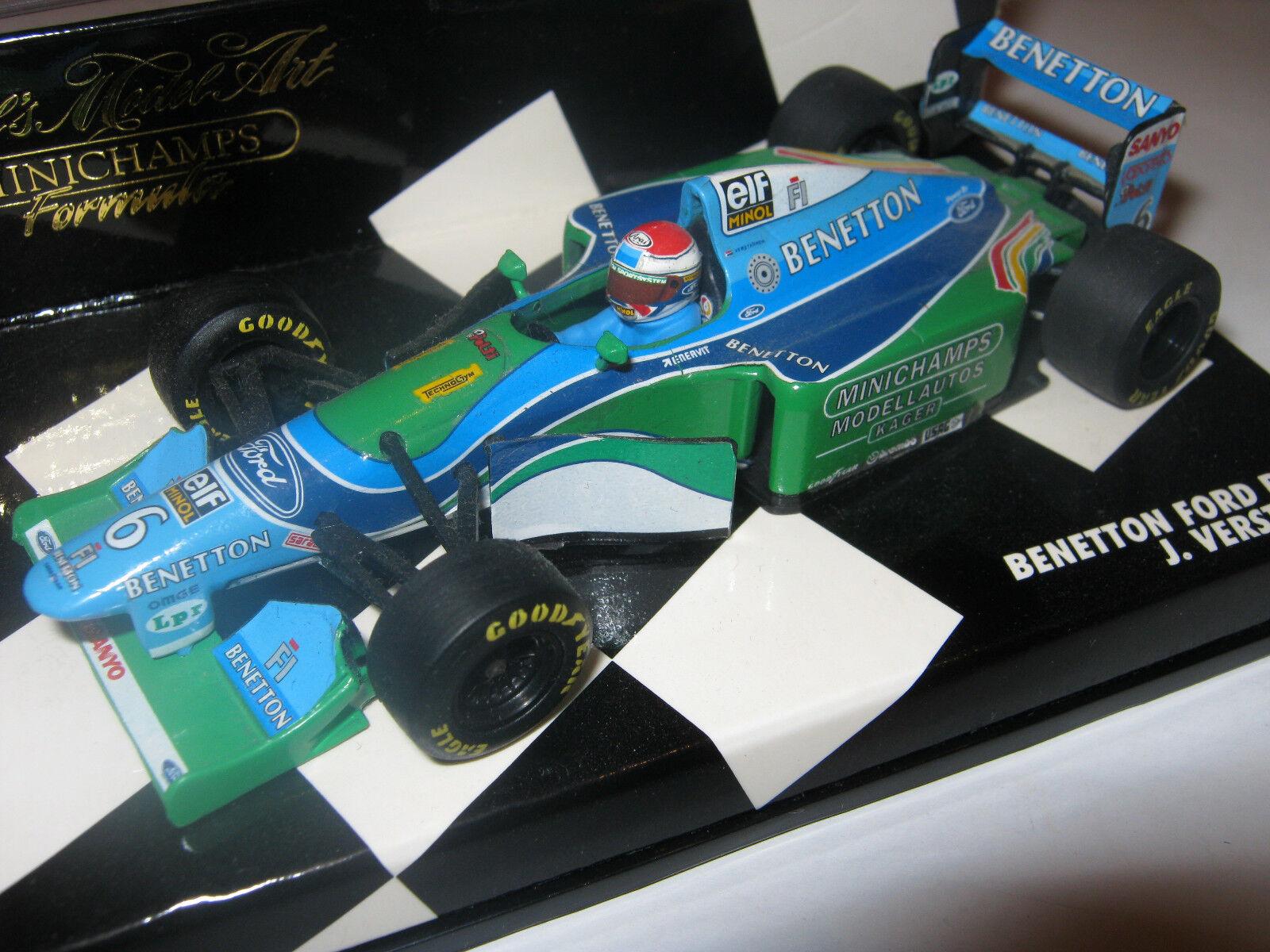 1 43 Benetton FORD b194 J. Verstappen German GP 1994 MINICHAMPS 430940206 neuf dans sa boîte