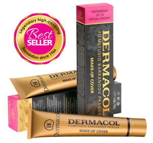 Dermacol-High-Cover-Makeup-Foundation-Waterproof-SPF-30-Authentic-NEW