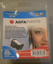 (PRL) AGFAPHOTO HP 339 CARTUCCIA INCHIOSTRO INK CARTRIDGE BLACK 34 ML PHOTO NEW
