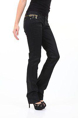 Jeans Donna Pantaloni Sexy Woman Nero Effetto Pelle B293 Tg M Veste Piccolo