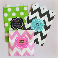 36 Personalized Birthday Party Goodie Bags Favor Bags
