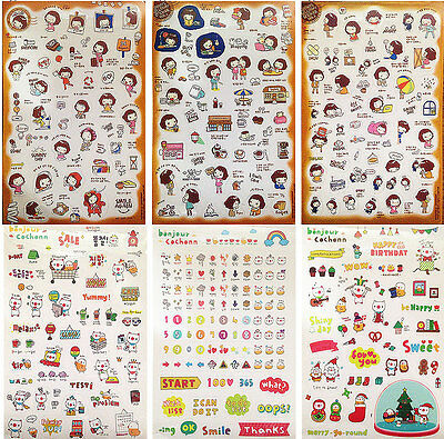 1pc Stationery Sticker Adhesive Diy Decor Cute Paper Diary Notebook Decoration
