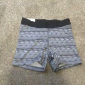 Shortie Shorts Juniors Compression Shorts So Athletic Short Black & White sz xs