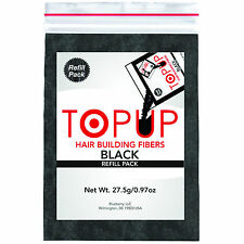 Toppik Hair Building Fiber Refill with TOPUP Hair Loss Conncealer - Black- 27gm