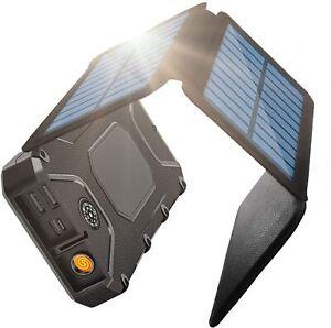 New Solar Power Bank 3 Panel Portable Charger 26800mAh External Battery Pack USB