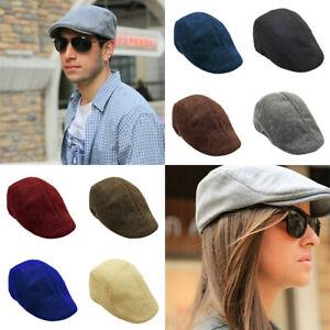 Unisex Mens Womens Summer Mesh Flat Sun Cap Newsboy Cabbie Ivy Gatsby Hats Beret