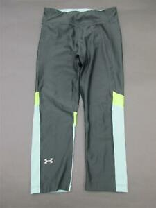 Under-Armour-Size-S-Womens-Gray-Compression-HeatGear-Athletic-Track-Pants-724
