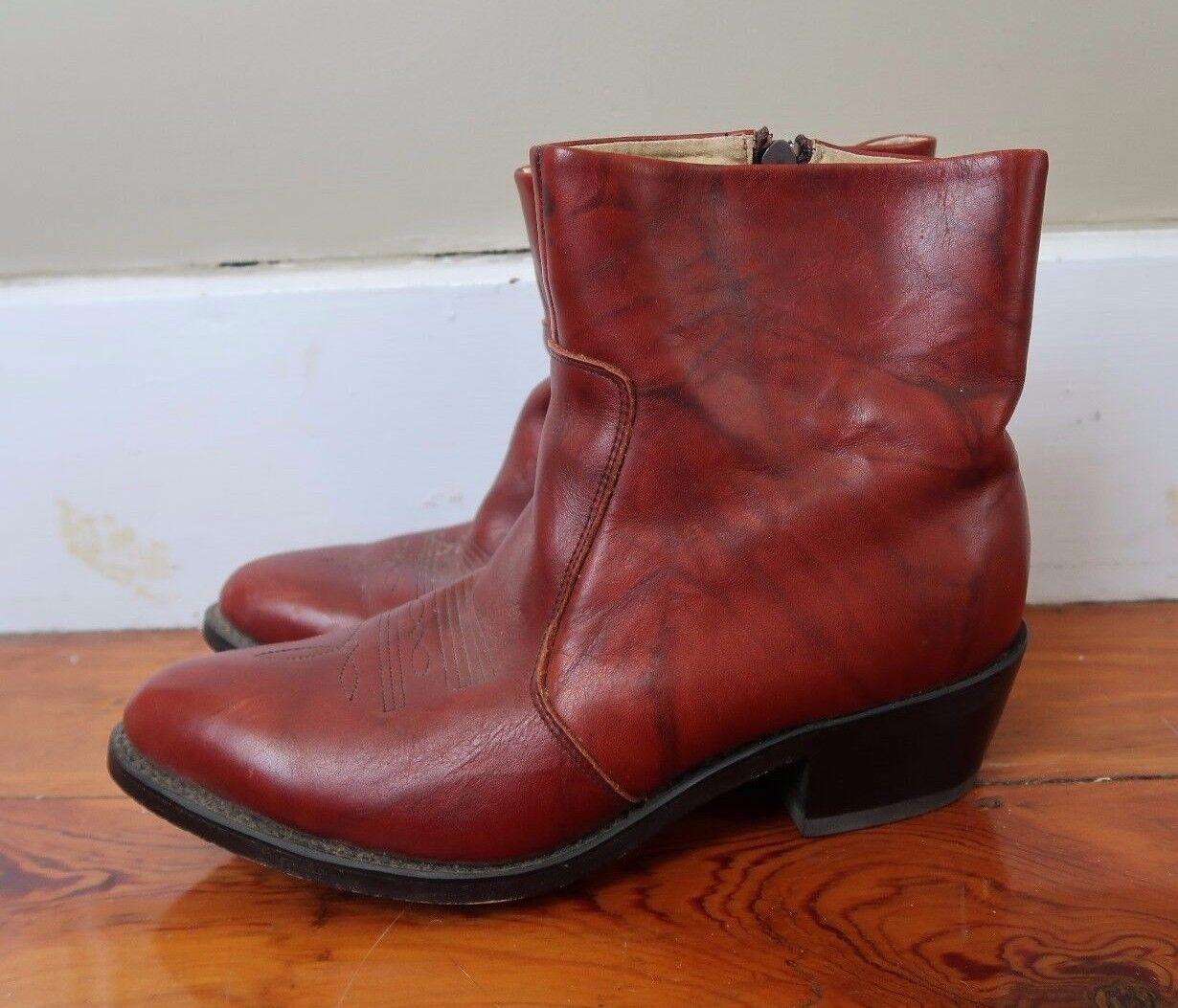 Durango Damens's 8.5 D cherry Braun western cowboy Leder ankle boots booties