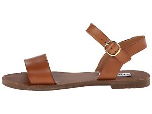 b6044c4c1a6 Steve Madden DONDDI Women s Casual Leather Ankle Strap Flat Sandals ...