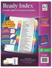 New Avery 11125 Ready Index Durable Table Of Contents Dividers A Z Tabs