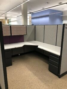Details About 7 1 2 X 7 1 2 Cubicles Partitions By Haworth Office Furniture