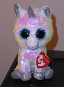 Ty FLIPPABLES ~ DIAMOND the Unicorn Changing Sequins 6