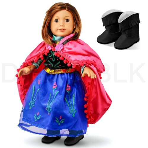 "Fits American Girl 18/"" Princess Dress 18 Inch Doll Clothes Costume Outfit"