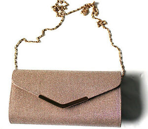 bijou brigitte clutch handtasche gold glitzer neu. Black Bedroom Furniture Sets. Home Design Ideas