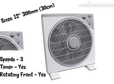 """12/"""" BOX FAN 3 velocità Air Mover ventola di raffreddamento"""
