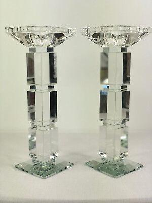 2er Kristallkerzenständer Set Kerzenhalter Kerzenleuchter Leuchter Kristall Neu
