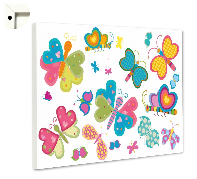 Magnettafel Pinnwand Memoboard Motiv Kinderzimmer Bunte Schmetterlinge