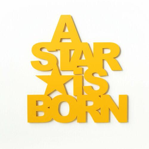 Dekobuchtstaben 3d-A star is born