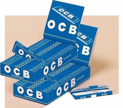 Zigarettenpapier 2 Karton mit insgesamt 50 Heftchen à 50 Blatt OCB Blau kurz
