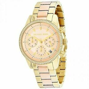 58aea529e0bd Michael Kors Women s Ritz Gold-tone Watch MK6475 for sale online