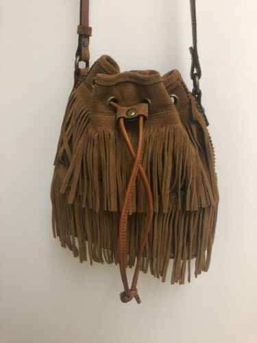 Patricia Nash Suede Leather, Crossbody, Drawstring