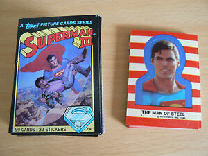 1983 Topps Superman III Complete Trading Card Set 99  MINT FREE COMBINED SHIPPIN