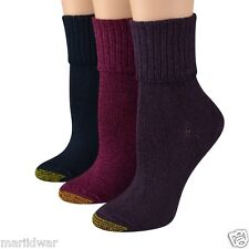Gold Toe Women's Socks Bermuda Turn Cuff Azalea Asst 3 pairs