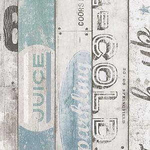 Surf-Bois-Panneau-Papier-Peint-Bleu-As-Creation-959503-Neuf-en-Relief