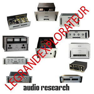 Details about Ultimate Audio Research Operation Repair & Service manual  schematics 390 on DVD