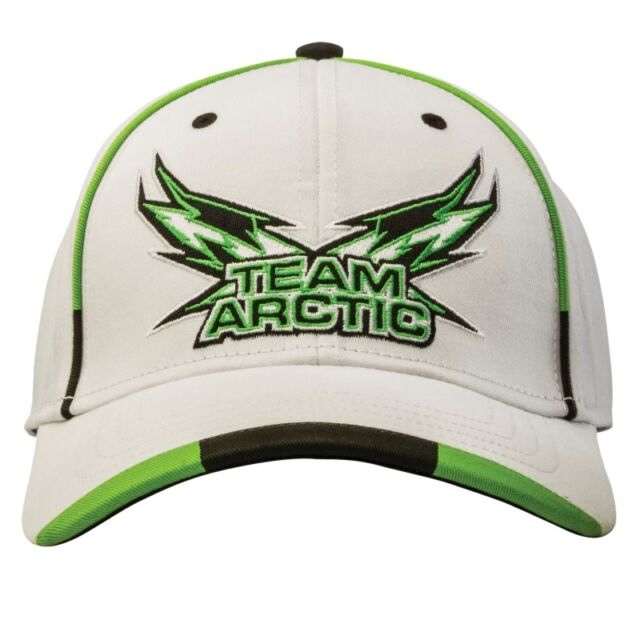 Arctic Cat Team Arctic Flag Wings Fitted Cap - White with Green - 5263-095 dc55adb930f0