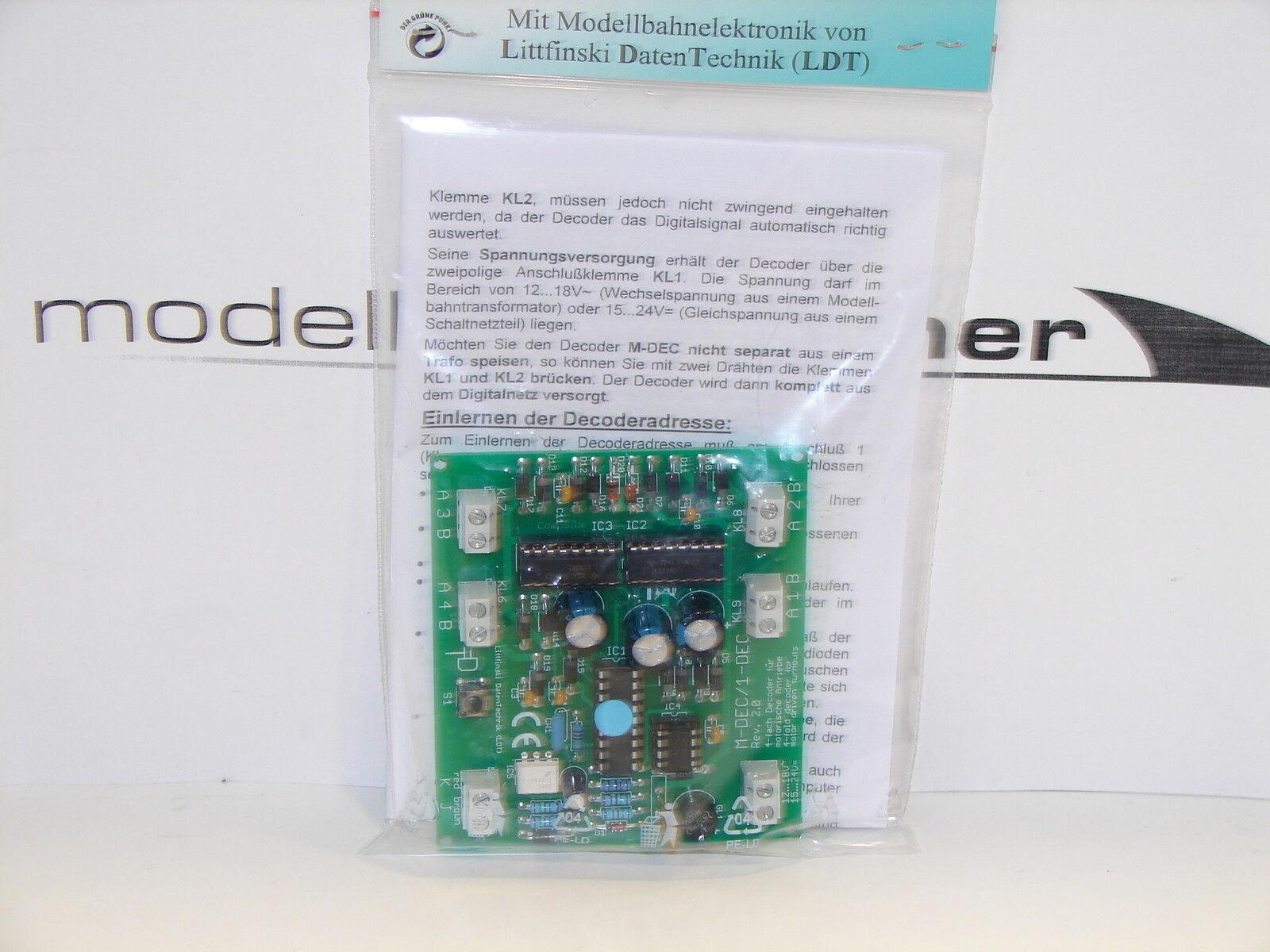 Littfinski 410412 M-DEC-DC-F 4 volte MOTORE decodificatore morbido per DCC Digital + Nuovo +