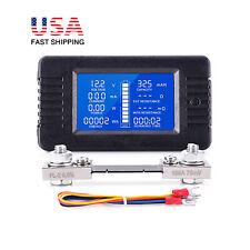 200v Lcd Display Dc Battery Monitor Amp Voltmeter 100a Shunt For Car Rv Solar