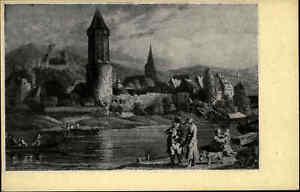 WERTHEIM-am-Main-Baden-Zeichnung-nach-Richter-Heimatbeleg-im-PK-Format-1940
