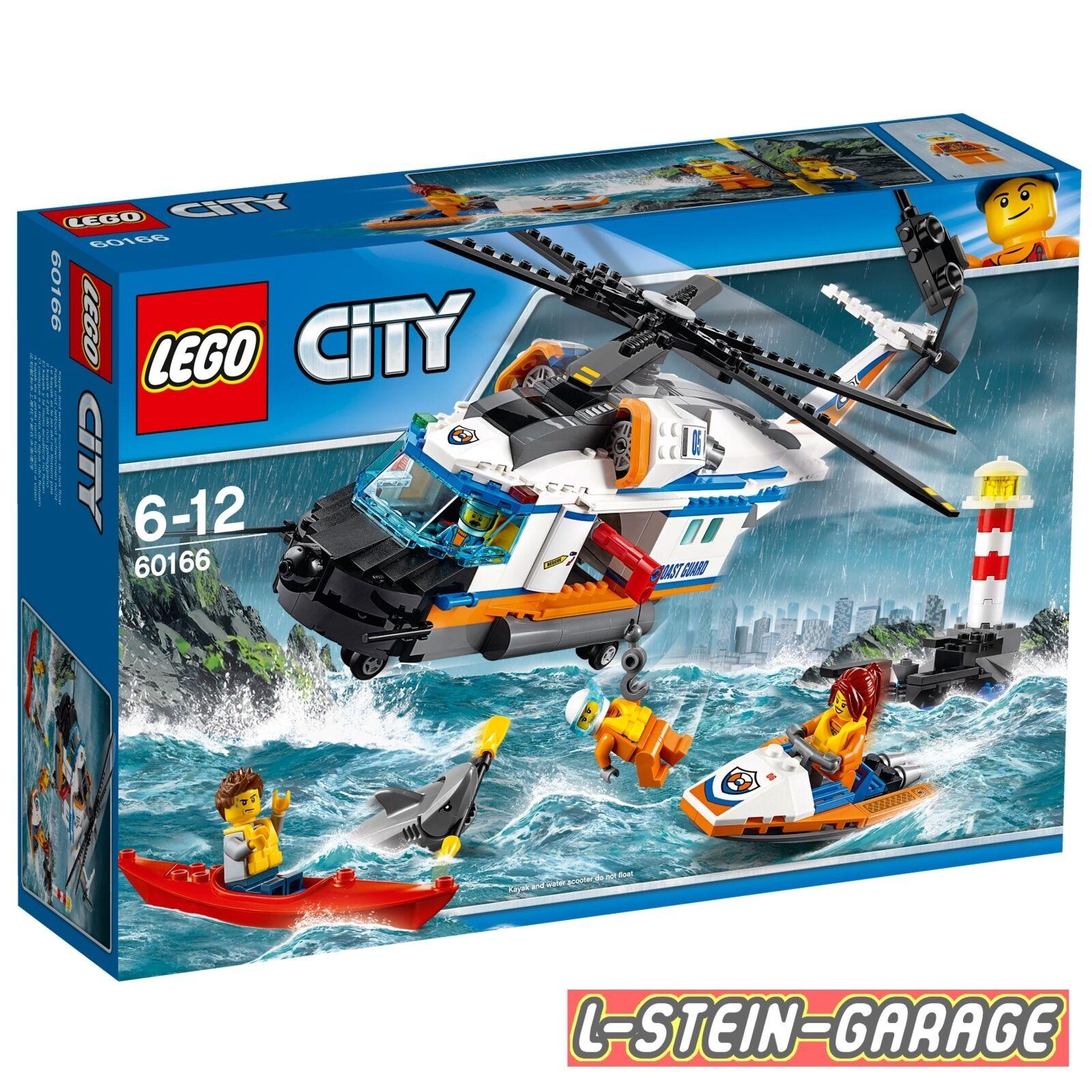 LEGO® City Seenot Sets 60166 Seenot-Rettungshubschrauber NEU & OVP