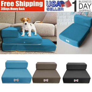 Breathable-Mesh-Foldable-Pet-Stairs-Detachable-Pet-Bed-Stairs-Dog-Ramp-2-Steps-A