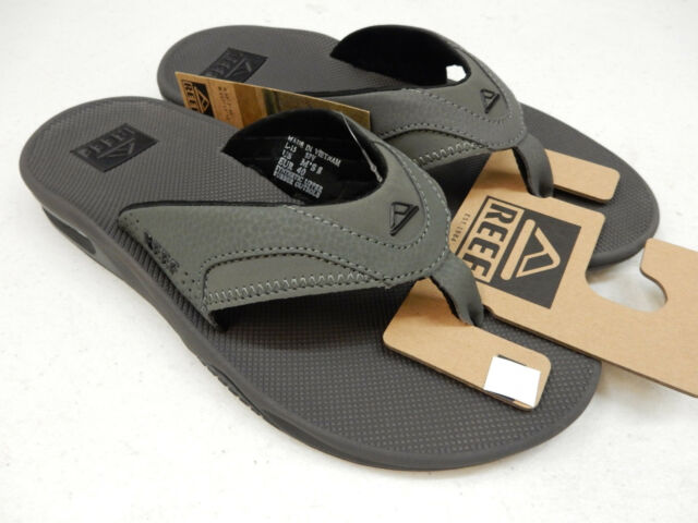 2dd18ebc294c Reef Fanning Gray black Flip Flops Thong Sandals Beach Mick Grey US Men  Sizes 8