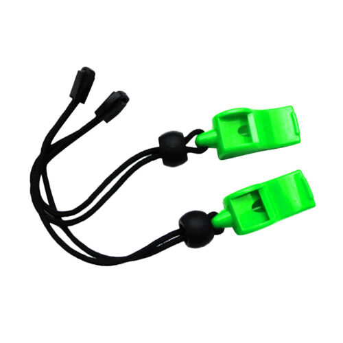 2x Scuba Diving Camping Emergency Survival Whistles with Wrist Strap Green