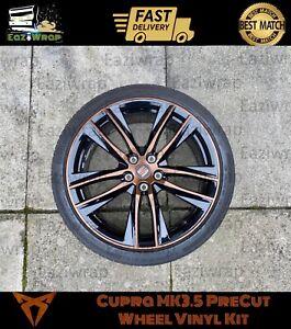 Eaziwrap-Leon-MK3-5-Cupra-19-Alloy-Wheels-PreCut-Overlay-Vinyl-Sticker-COPPER