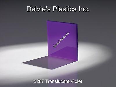 "Purple Translucent Acrylic Plexiglass sheet 1//16/"" x 6/"" x 12/"" #2287"
