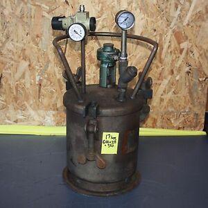 Details about IWATA Air motor SPRAY Paint glue Stirrer agitator 10L  PRESSURE POT TANK PT-10CM
