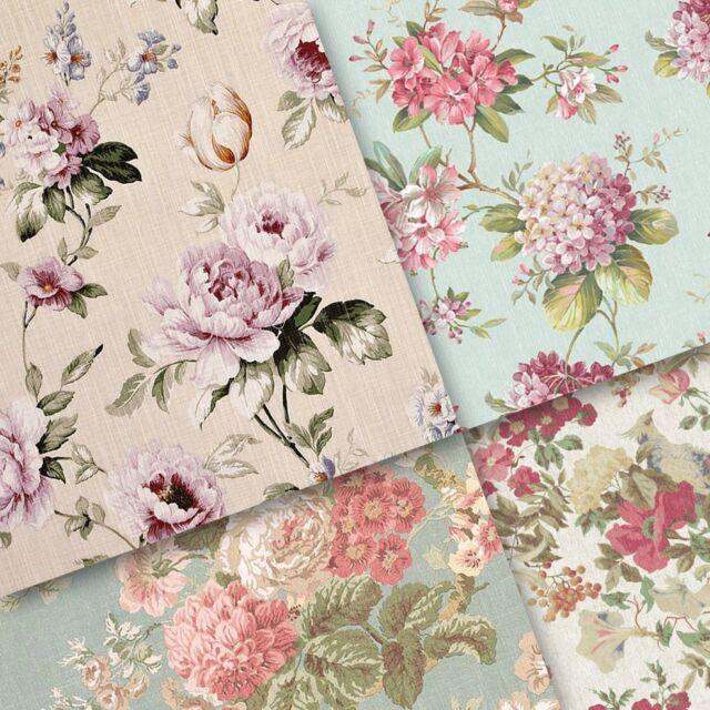exclusive 40/ 20pc elegant Vintage floral pattern scrapbook paper 4 design